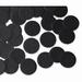 25mm BLACK Circular Tissue Confetti 100 gr