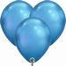 Q7 Inch Chrome Blue Latex Balloons 100pk