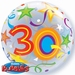 22 Inch Birthday Brilliant Stars Aged 30 - Bubble Balloon