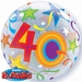 22 Inch Birthday Brilliant Stars Aged 40 - Bubble Balloon